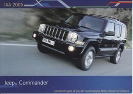 Jeep Commander, A6-size postcard, IAA 2005