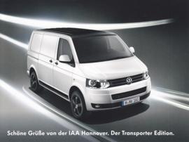 Transporter Edition, larger size postcard, 18 x 13,5 cm, German