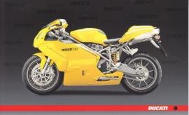 Ducati 749, continental size postcard, English language