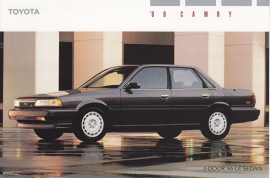Camry 4-Door V6 LE Sedan, US postcard, 1989