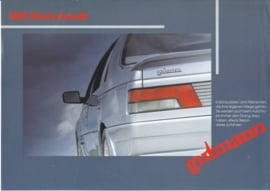 405 Gutmann Tuning leaflet, 2 pages, A4-size, about 1988, German language