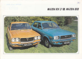 RX-3 Coupe & 818 Sedan brochure, 6 pages, about 1973, Dutch/French language