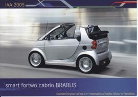 Smart Fortwo Cabrio Brabus, A6-size postcard, IAA 2005