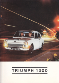 1300 Sedan brochure, 16 large pages, 1968 (F-plate), Dutch language