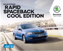 Rapid Spaceback Cool Edition brochure, 16 pages, German language, 09/2017