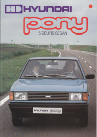 Pony 5-Door Sedan brochure, 16 pages, about 1982, Dutch language