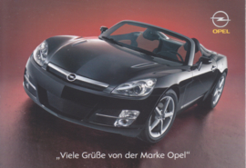 GT Convertible with old & new models, factory postcard, 2007, German