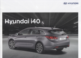 i40 Sedan & Estate brochure, 12 pages, 02/2017, Dutch language