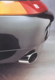 Genuine parts - 911 Carrera chrome exhaust postcard,  DIN A6-size, issued mid 1990s