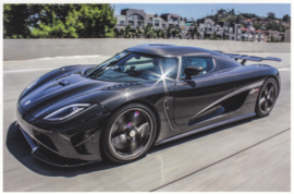 Agera R, A6-size postcard, factory-issued, English text, 2015