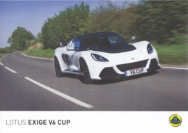 Exige V6 Cup, 2 page leaflet, DIN A4-size, factory-issued, English language