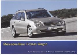 Mercedes-Benz E-Class Wagon, A6-size postcard, NAIAS 2003