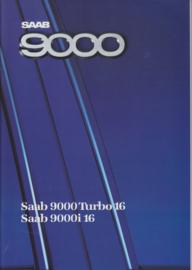 9000 Turbo 16 & 9000 i 16 brochure, 54 pages, 1988, Dutch language, # 227207