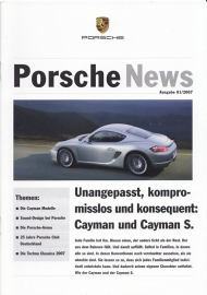 News 1/2007 with Cayman & Cayman S, 16 pages, 02/07, German language