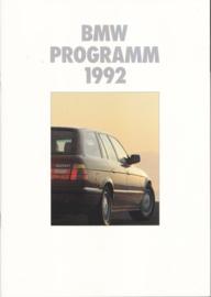 Program 1992 brochure, 26 pages, A4-size, 2/1991, German language