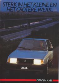 Axel brochure, 8 pages, 09/1985, Dutch language