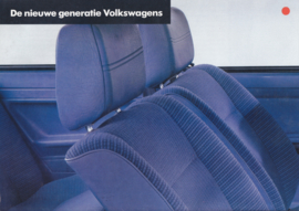 VW new specs. levels brochure, 8 pages,  A4-size, Dutch language, 06/1981