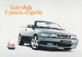 9-3 Aero Cabriolet postcard, A6-size, Citrus Promotion, Italian language, # 0644
