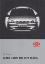 Carnival MPV brochure, 8 pages + 6 page price list, 2000, German language