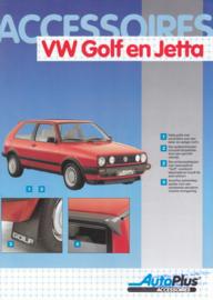 Golf & Jetta accessories (Zubehör) brochure, 6 pages,  A4-size, Dutch language, 01/1989