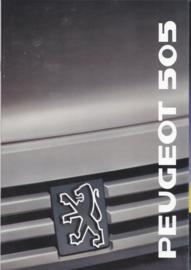 505 Sedan brochure, 26 pages, A4-size, 1989, Dutch language
