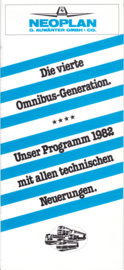 Neoplan Bus program brochure, 20 pages, 01/1982, German language