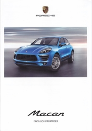 Macan Facts & Prices brochure, 8 large pages (A4), 04/2014, Swedish