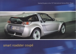 Smart Roadster Coupé, A6-size postcard, Geneva 2003