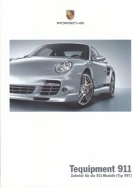 911 Tequipment (997) brochure, 48 pages, 03/2008, German language
