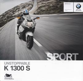 BMW K 1300 S brochure, 8 pages, #3-11-004-009-65, 1-2013, Dutch language