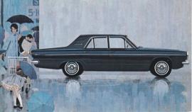 Dart 270 4-Door Sedan, US postcard, standard size, 1963
