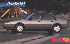 Cavalier RS Sedan, US postcard, standard size, 1993