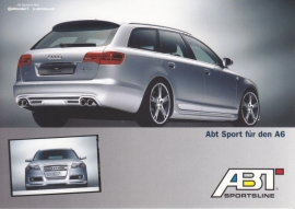 AS6 Avant tuned by ABT, DIN A6 postcard, German language