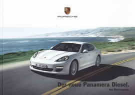 Panamera Diesel brochure, 24 pages in presentation box, 04/2011, German