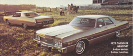 Newport Sedan & Hardtop, US postcard, large size, 1973