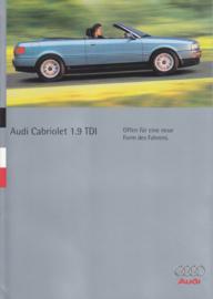 Cabriolet 1.9 TDI brochure, 8 pages, 6/1995, German language