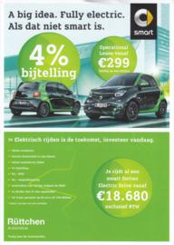 Fortwo & Forfour Electric models leaflet,  2 pages, 2018, Dutch language