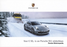 911 Carrera winter inspection folder, 4 pages, 2014/2015, Dutch