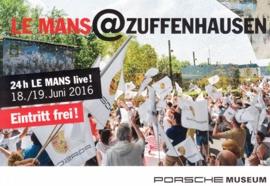 Le Mans Live, Stuttgart, factory issue, A6-size postcard, 2016, German