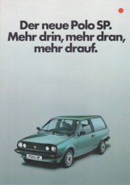Polo SP brochure, 4 pages,  A4-size, German language, 9/1983