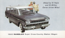 Super Cross Country Station Wagon, US postcard, standard size, 1960, # AM-60-8037E