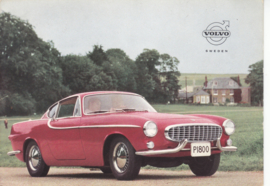 P 1800 sportscar postcard, A6-size, 1960, English language, factory-issued in Sweden