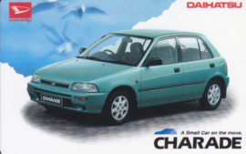 Daihatsu Charade card, year about 1993, plastic, credit-card size