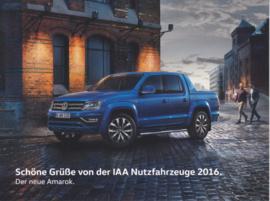 Amarok, larger size postcard, 18 x 13,5 cm, 2016, German