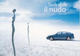 9-3 Hatchback postcard, A6-size, Citrus Promotion, Italian language, # 0558