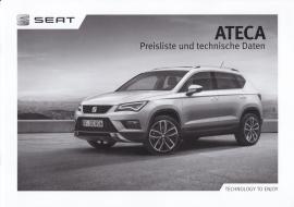 Ateca pricelist brochure, 16 pages, 04/2016, German language