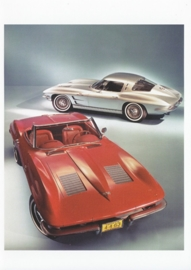 Corvette Sting Ray 1967, A6 size postcard, 100 years of Chevrolet by GM Europe, 2011