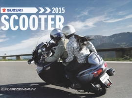 Suzuki Scooter brochure, 12 pages, #99999-SCTUB-A15, 2015, Dutch language
