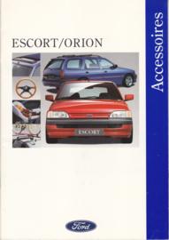 Escort/Orion accessories brochure, 40 pages, 8/1992, Dutch language