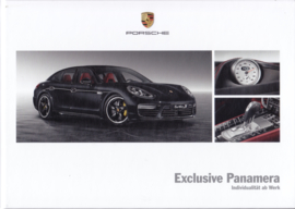 Panamera Exclusive brochure, 60 pages, 11/2014, hard covers, German